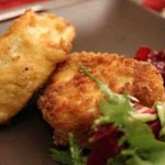 Deep Fried Brie with Cranberry Chutney